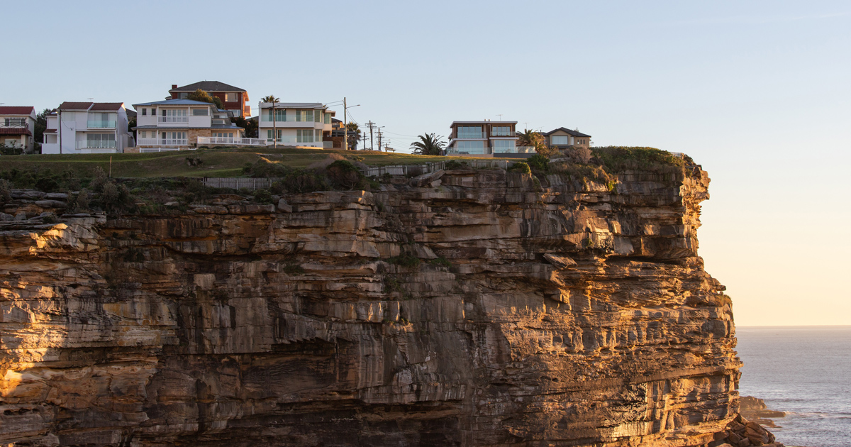 Houses in the cliff