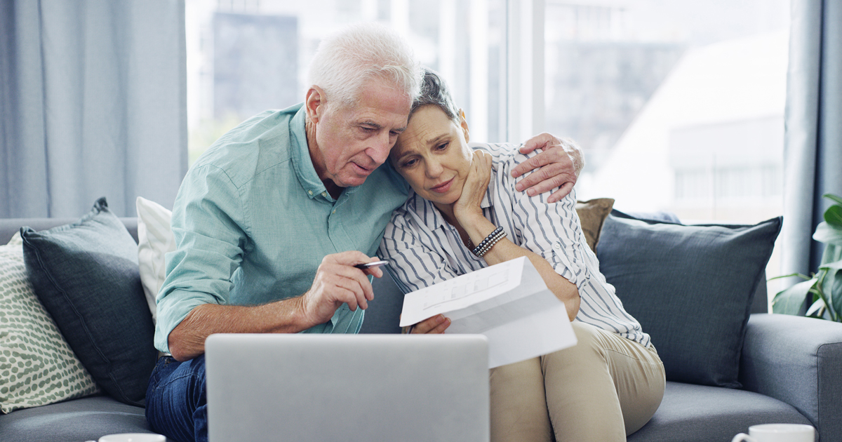 Pensioner couple struggling with finances